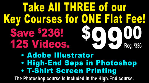 T-Shirt Printing Master Classes - Key Course Bundle - Group Discount