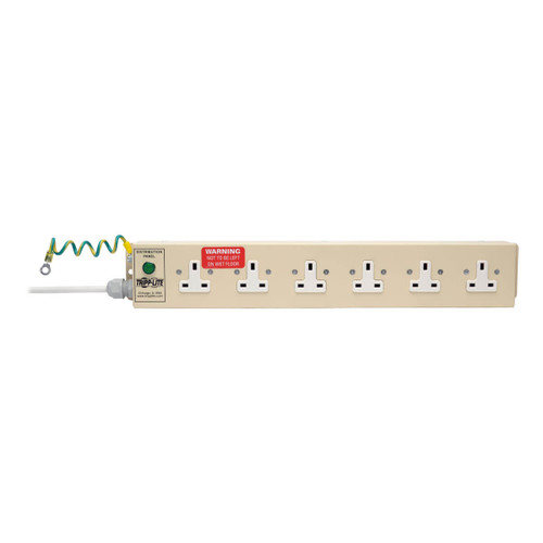 Tripp Lite Power Strip Medical Hospital 6 UK Outlets 3M Cord BS-1363