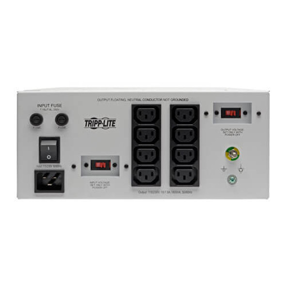 IS1800 HGDV Isolator Series Dual-Voltage 115/230V 300W 60601-1 Medical-Grade Isolation Transformer, C14 Inlet, 4 C13 Outlets