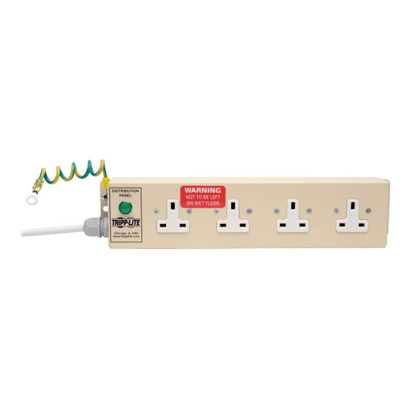 PS410HGUK UK BS-1363 Medical-Grade Power Strip with 4 UK Outlets, 3 m Cord