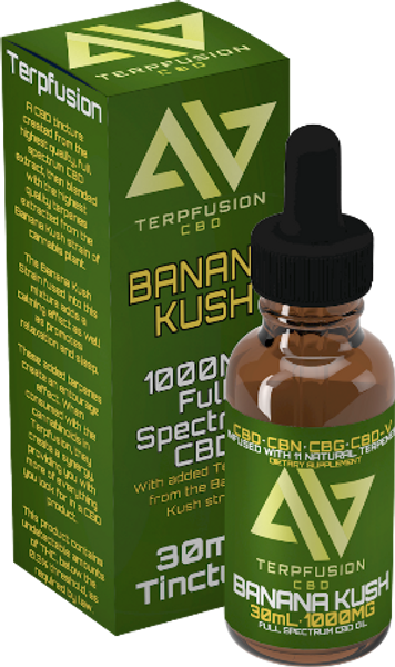 Terpfusion - Banana Kush - 1000mg Full Spectrum CBD Tincture With Added Terpenes