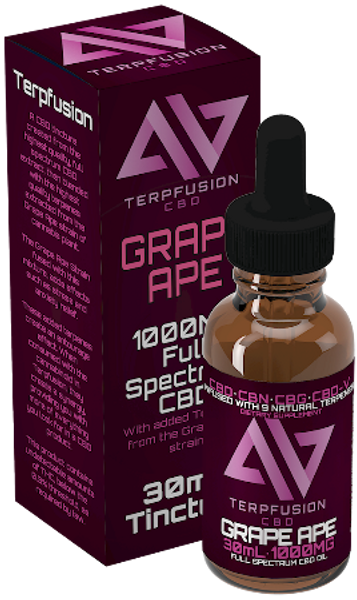 Terpfusion - Grape Ape - 1000mg Full Spectrum CBD Tincture With Added Terpenes
