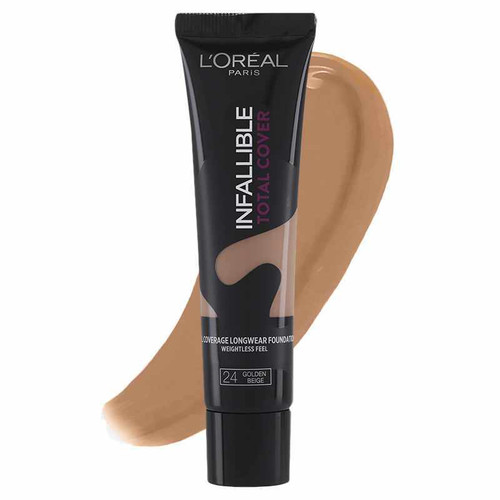 L'Oreal Paris Infallible Total Cover Foundation 24 Golden Beige shop online natural foundation in pakistan