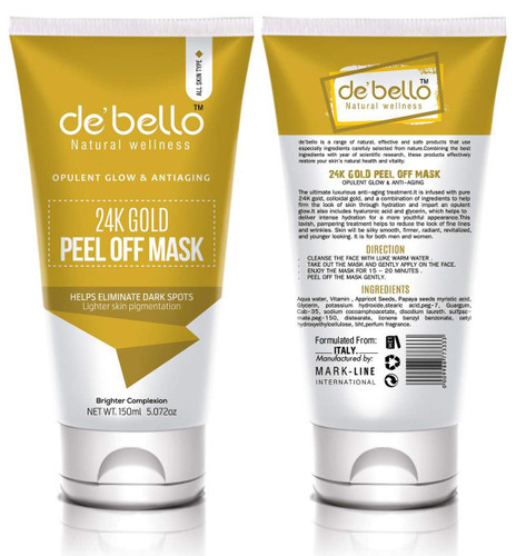 De'Bello 24K Gold Peel Off Mask 150 ML shop online in pakistan