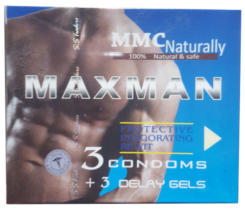 Maxman 3 Condoms + 3 Delay Gels shop online in pakistan