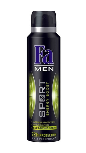 [EXPIRED] Fa Men Sport Energy Boost 72h Protection 200 ML.Lowest price on Livewell.pk