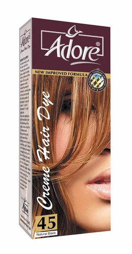 Adore Cream Hair Dye 45 Natural Black Rs 150 Only Lowest Price on Livewell.pk