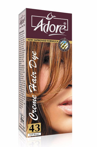 Adore Hair Dye Dark Brown 43  Rs 150 Only Lowest Price on Livewell.pk