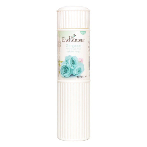 Enchanteur Gorgeous Perfumed Talc 125g lowest price in pakistan on saloni.pk