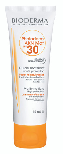 Bioderma Photoderm AKN Mat High Protection Matifying Fluid SPF30. Lowest price on Livewell.pk