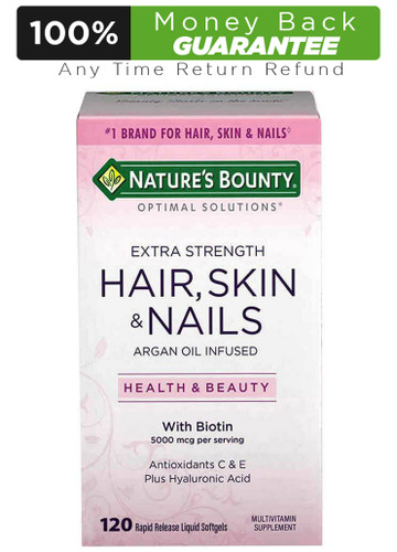 Nature's Bounty Extra Strength Hair, Skin & Nails with Biotin 120 Softgels Buy online in Pakistan on LiveWell.pk