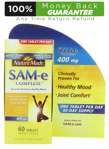 Nature Made SAM-e Complete 400 mg - 60 Tablets