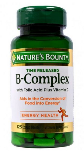 Nature's Bounty B-Complex - 125 Coated Tablets Buy online in Pakistan on LiveWell.pk