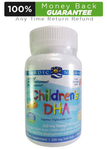 GNC Nordic Naturals Children's DHA - Strawberry 180 Chewable Soft Gels Buy online in Pakistan on LiveWell.pk