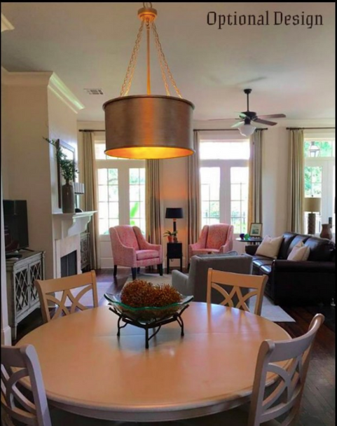St. James Britt Copper Drum Chandelier