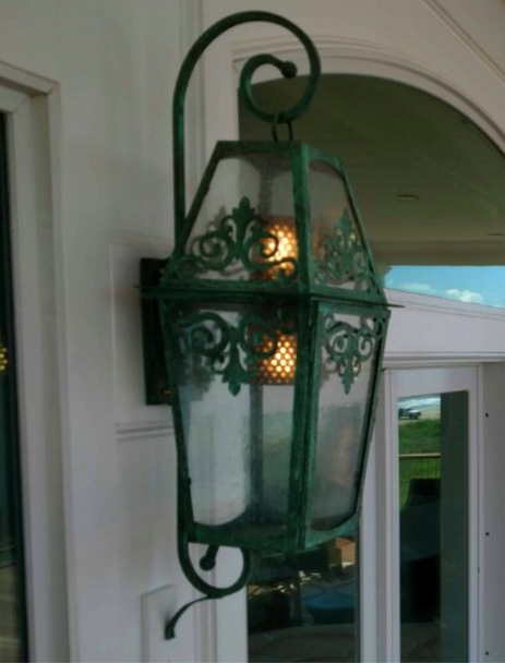 St. James Calypso Copper Lantern