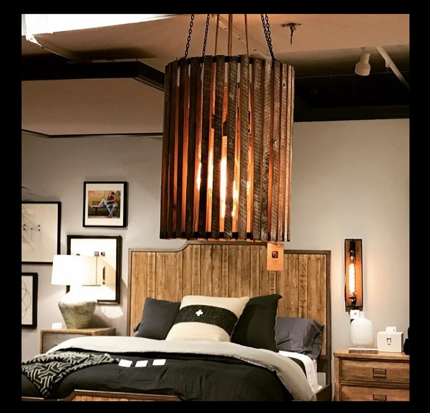 In Stock - Division Street Wood Chandelier