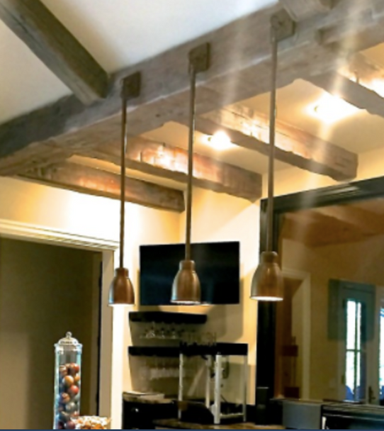 St. James Down Shade Copper Chandelier