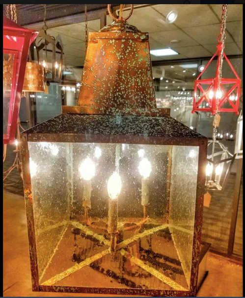 St. James Winnsboro Copper Chandelier