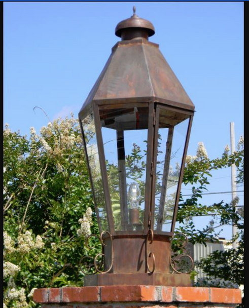 St. James Kaiser Nautical Pier Mount Copper Lantern