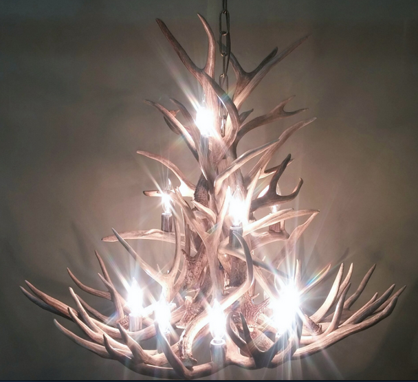 Montana Deer Antler Chandelier, 13 Lights