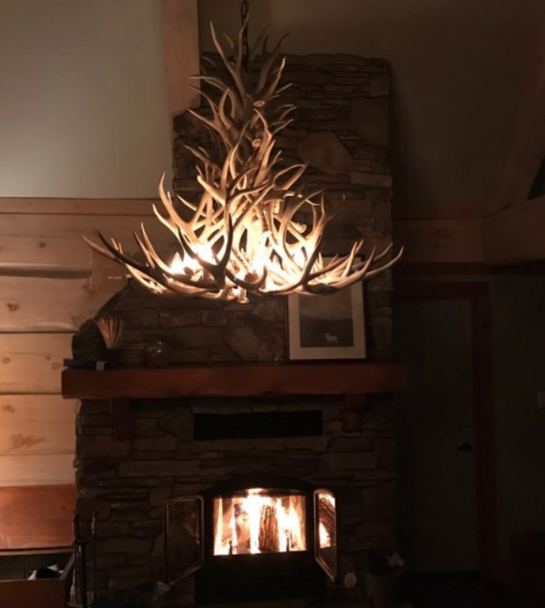 New Mexico Deer Antler Chandelier
