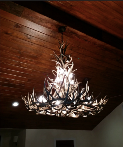 Gold Canyon Deer Antler Chandeliers