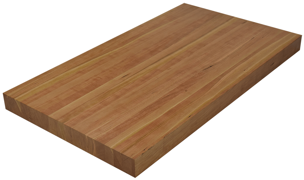 Character Cherry Edge Grain Butcher Block Countertop.