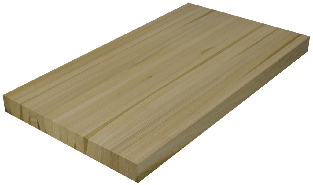 Poplar Edge Grain Butcher Block Countertop.