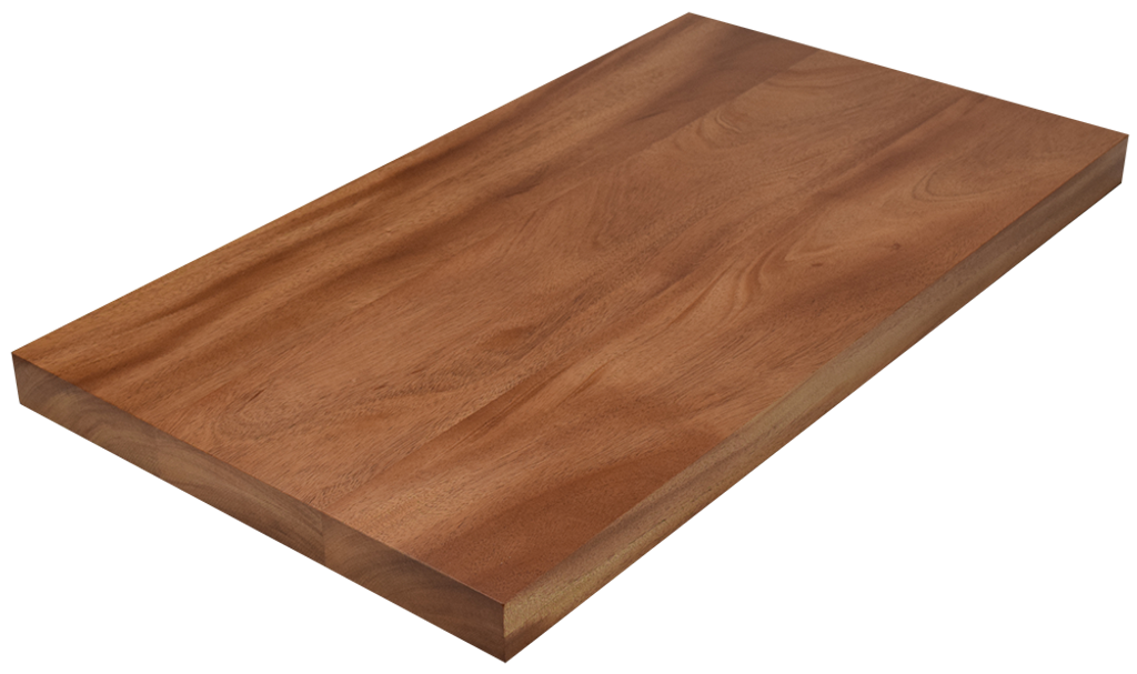 African Mahogany Wide Plank (Face Grain) Countertop.
