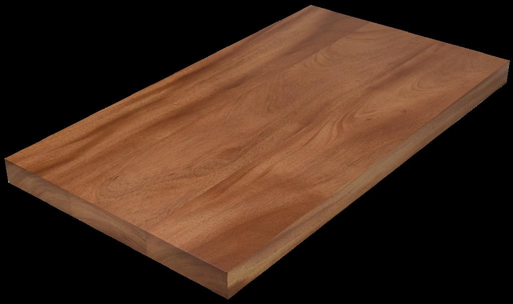 African Mahogany Wide Plank (Face Grain) Countertop.