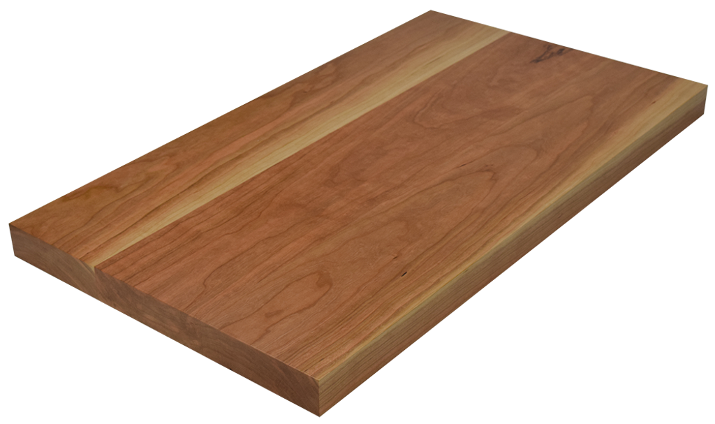 Character Cherry Wide Plank (Face Grain) Countertop.