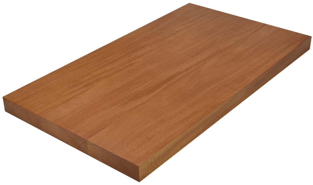 Genuine Mahogany Wide Plank (Face Grain) Countertop.