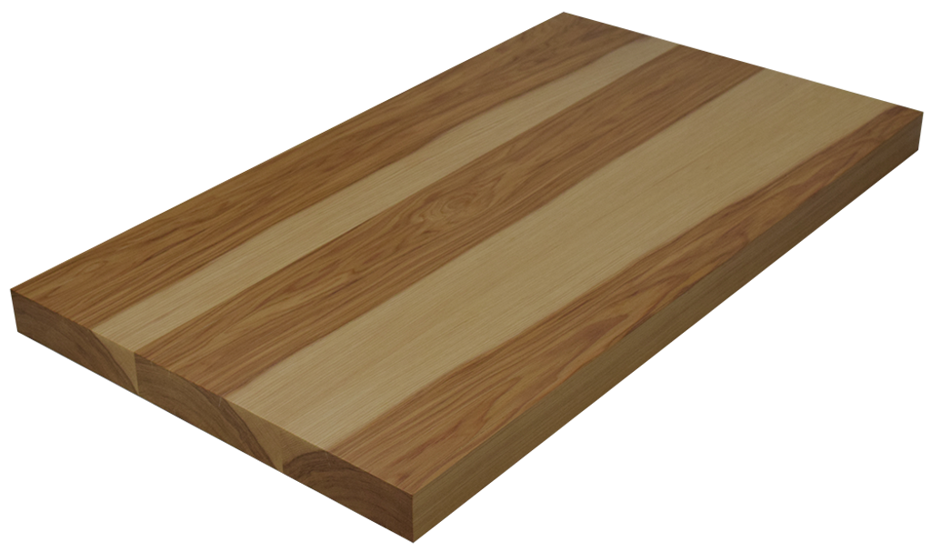 Hickory Wide Plank (Face Grain) Countertop.