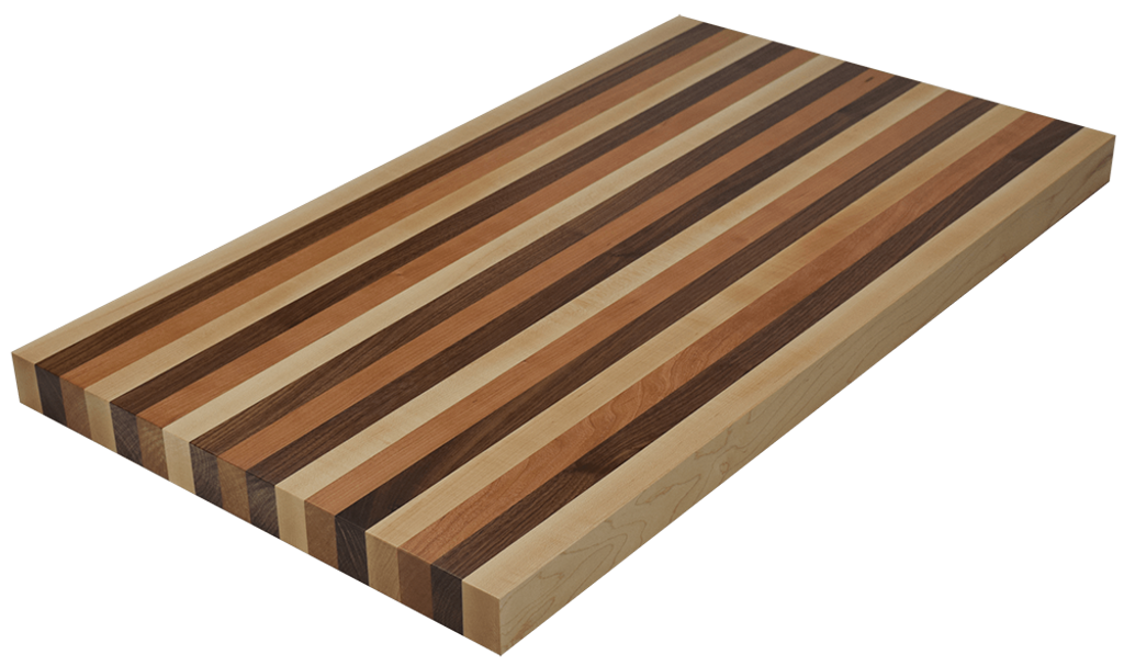 Mixed Maple/Cherry/Walnut Edge Grain Butcher Block Countertop