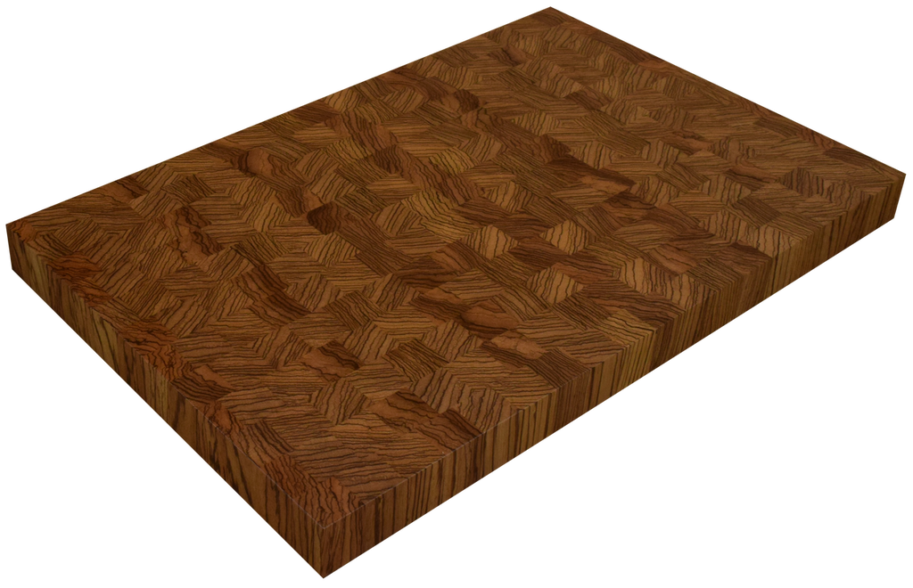 Zebrawood End Grain Butcher Block Countertop.