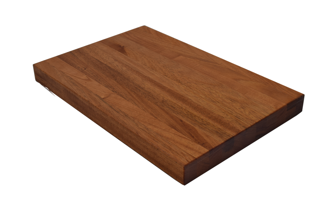 African Mahogany Edge Grain Butcher Block Cutting Board