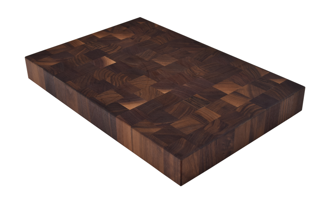 Walnut End Grain Butcher Block Cutting Board.