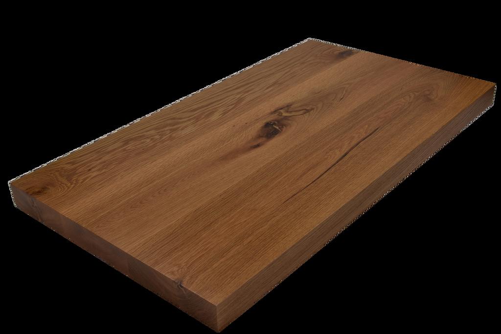 Rustic White Oak Wide Plank (Face Grain) Countertop.