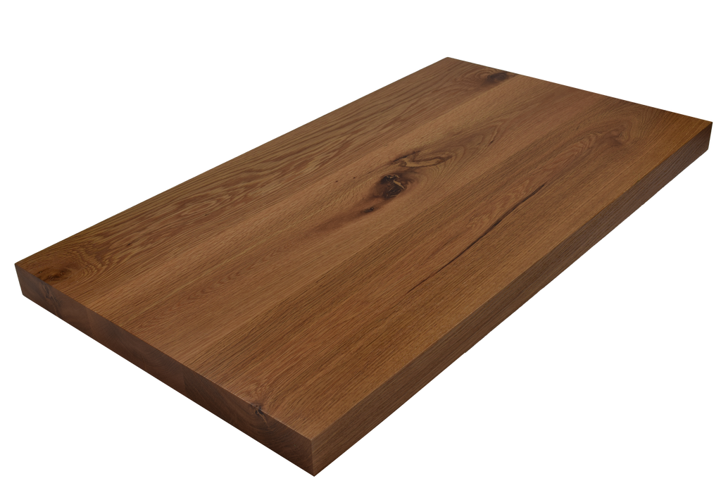 Rustic White Oak Wide Plank (Face Grain) Countertop.