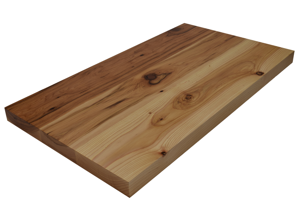 Rustic Hickory Wide Plank (Face Grain) Countertop.