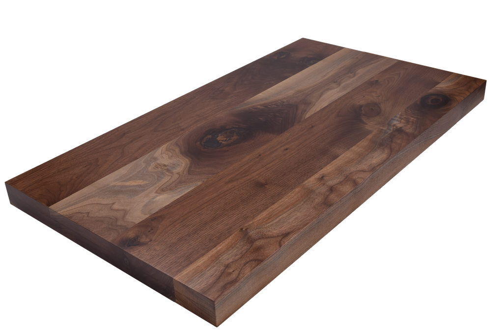 Rustic Walnut Wide Plank (Face Grain) Countertop.