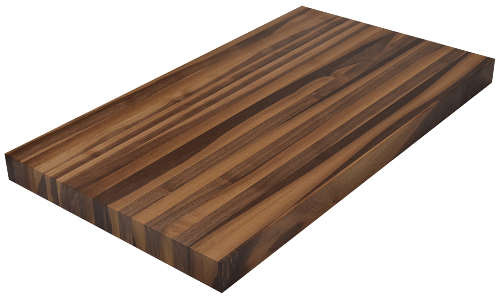 Steamed Walnut Edge Grain Butcher Block Countertop.