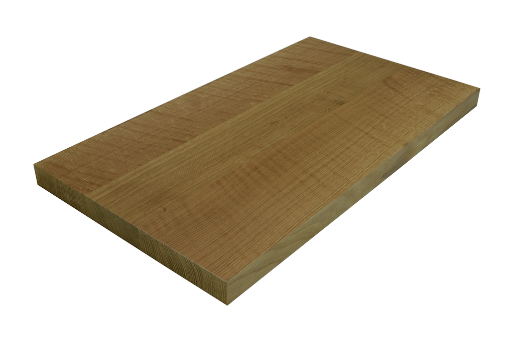 Quarter Sawn White Oak Wide Plank (Face Grain) Countertop.