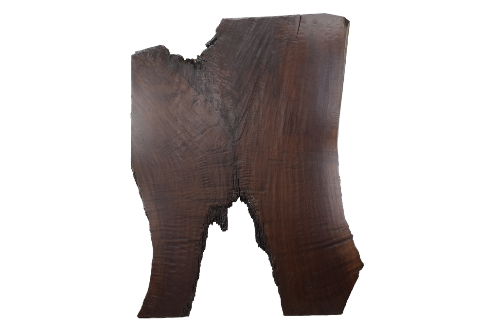 Back-side of Walnut Live Edge Slab #396.