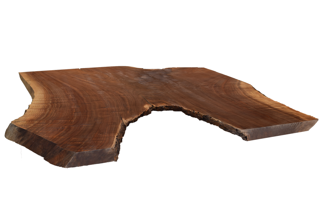 Front-side angle of Walnut Live Edge Slab #394.