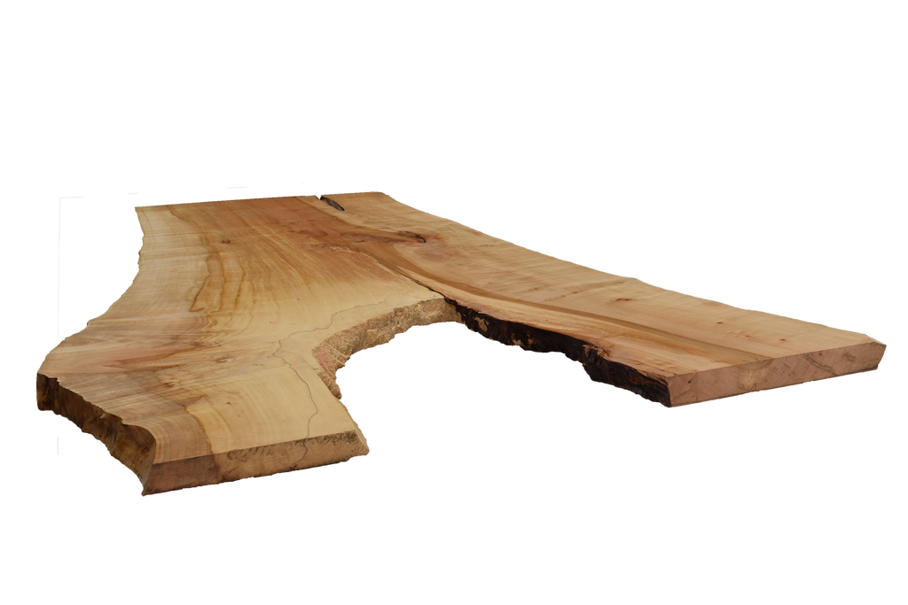 Front-side angle of Maple Live Edge Slab #387.