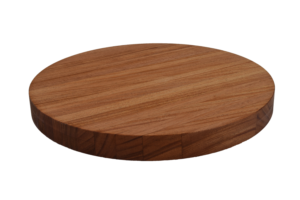 African Mahogany Edge Grain Round Cutting Board