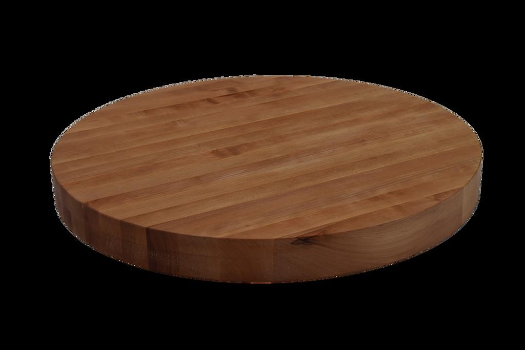 Cherry Edge Grain Round Cutting Board