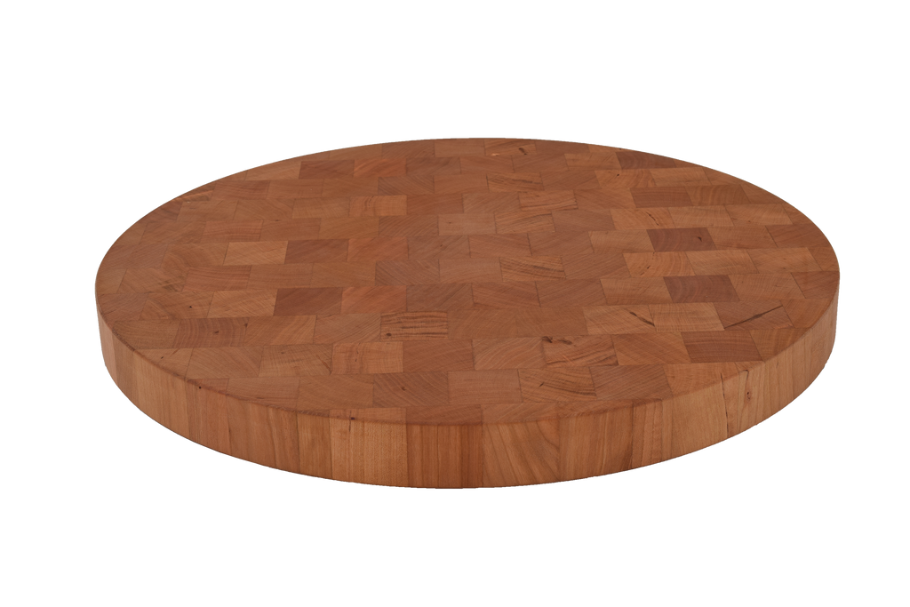 Cherry End Grain Round Cutting Board.